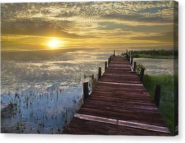 Lake Of Enchantment Canvas Print by Debra and Dave Vanderlaan