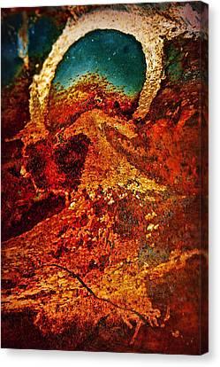 Lake Of Lava Canvas Print by Leanna Lomanski