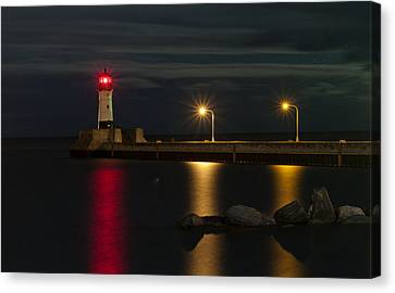Lake Of Lights Canvas Print by Michael Murphy