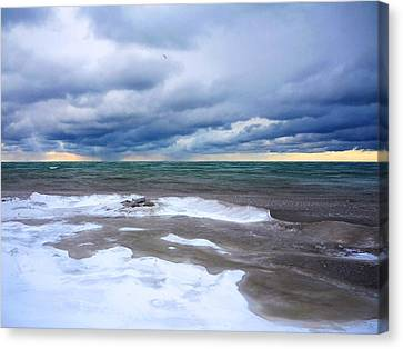 Lake Ontario Winter Storm Canvas Print
