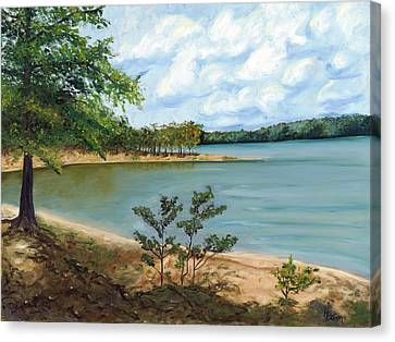 Lake Ouachita Canvas Print by Helen Eaton