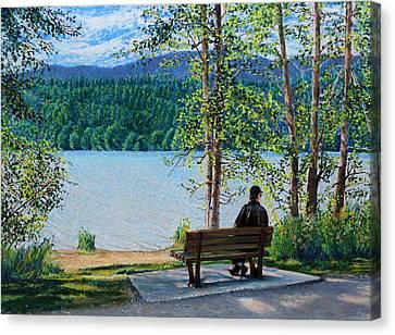Lake Padden - Schwartz Bench Canvas Print