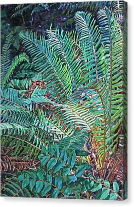 Lake Padden Series - Wendel Holboy Bench Canvas Print