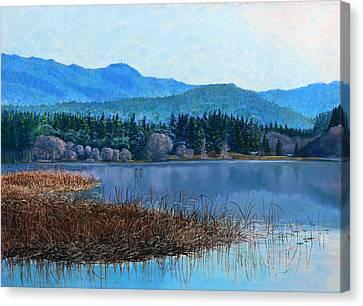 Lake Padden - View Near Gosset Bench Canvas Print