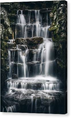 Lake Park Waterfall 2 Canvas Print by Scott Norris