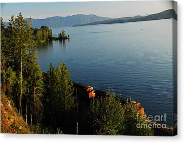Canvas Print featuring the photograph Lake Pend Orielle by Sam Rosen