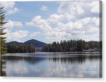 Canvas Print featuring the photograph Lake Placid by John Telfer