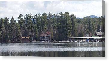 Canvas Print featuring the photograph Lake Placid Summer House by John Telfer