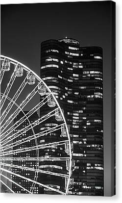 Lake Point Tower Canvas Print by Sebastian Musial