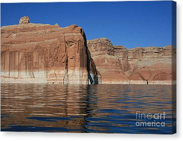 Lake Powell Cliffs Canvas Print by Marty Fancy