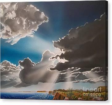 Lake Powell Clouds Canvas Print by Jerry Bokowski