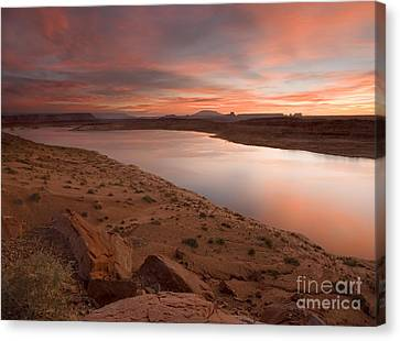 Lake Powell Dawning Canvas Print by Mike  Dawson