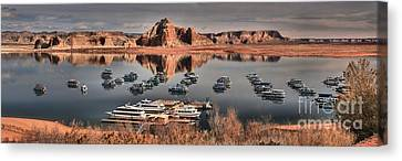 Lake Powell Panorama Canvas Print by Adam Jewell