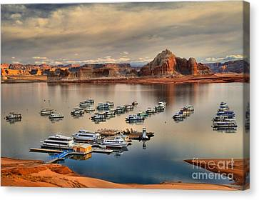 Lake Powell Reflections Canvas Print by Adam Jewell