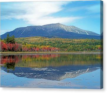 Canvas Print featuring the photograph Lake Reflection by Gene Cyr