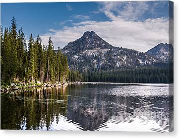 Lake Reflection Canvas Print by Robert Bales