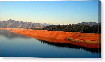 Canvas Print featuring the photograph Lake Reflections by AJ  Schibig