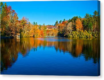 Canvas Print featuring the photograph Lake Reflections by Alex Grichenko