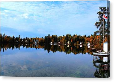 Lake Reflections Canvas Print by Larry Trupp