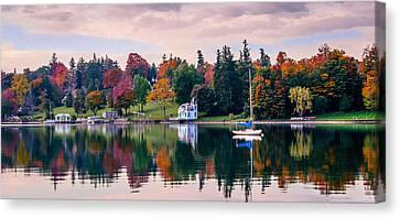 Skaneateles Lake Canvas Print - Lake Reflections by Robert Green