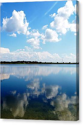 Canvas Print featuring the photograph Lake Sears 000 by Chris Mercer