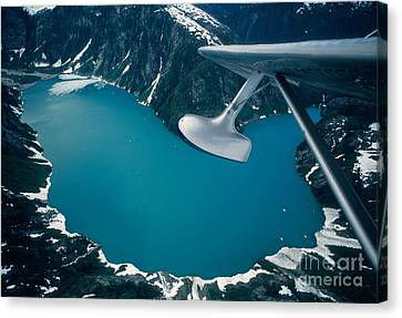 Lake Seen From A Seaplane Canvas Print by Ron Sanford