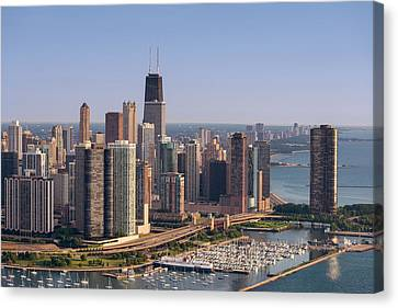 Lake Shore Drive Curve Chicago Canvas Print by Steve Gadomski
