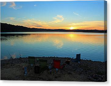 Gallery Art Canvas Print - Lake Shore Fishing by Lorna Rogers Photography