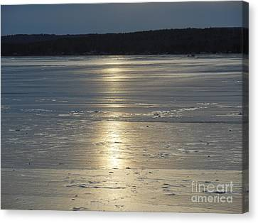 Lake Sunset 10 Canvas Print by Ingrid L