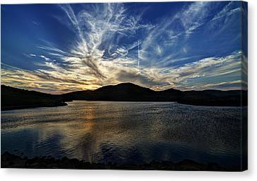 Lake Sunset In The Wichita Mountains Canvas Print