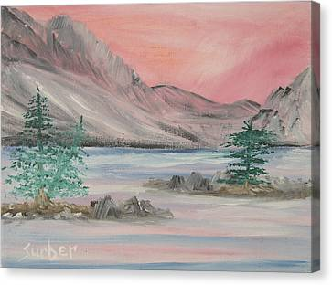 Lake Sunset Canvas Print by Suzanne Surber