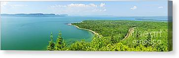 Lake Superior Panorama Canvas Print by Elena Elisseeva
