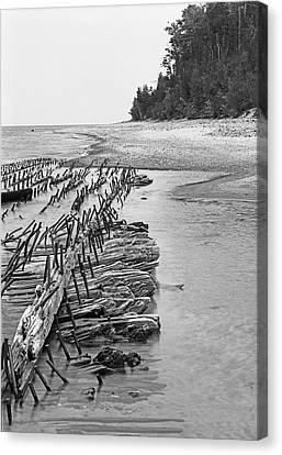 Lake Superior Shipwreck Canvas Print