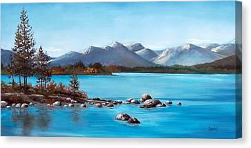 Lake Tahoe Blues Canvas Print by Cynara Shelton