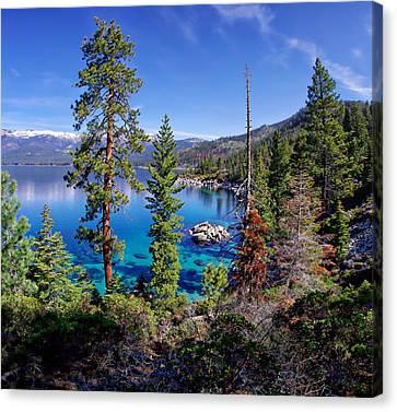 Lake Tahoe Eastern Shore Canvas Print by Scott McGuire