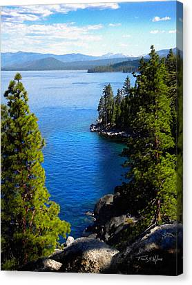 Lake Tahoe From The Rubicon Trail Canvas Print