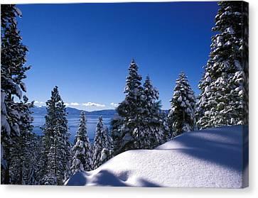 Lake Tahoe In Winter Canvas Print by Kathy Yates