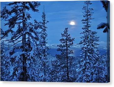 Lake Tahoe Moonset Canvas Print by Bruce Friedman