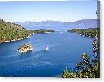 Lake Tahoe Paddle Boat Canvas Print