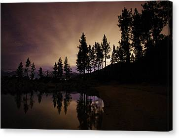 Lake Tahoe Sand Harbor Silhouette Canvas Print by Scott McGuire