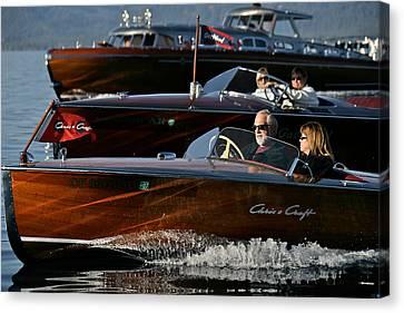 Lake Tahoe Speedboats Canvas Print by Steven Lapkin