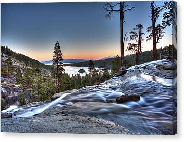 Lake Tahoe Sunset At Eagle Falls Canvas Print by Shawn Everhart
