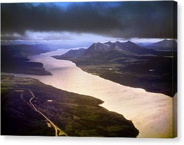 Lake Teslin And The Alaska Highway Canvas Print by George Cousins