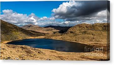 Lake Teyrn Snowdonia Canvas Print by Adrian Evans