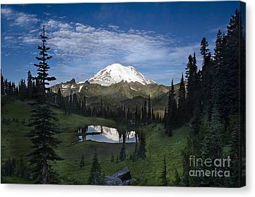 Alpine Canvas Print - Lake Tipsoo Reflections by Mike Reid