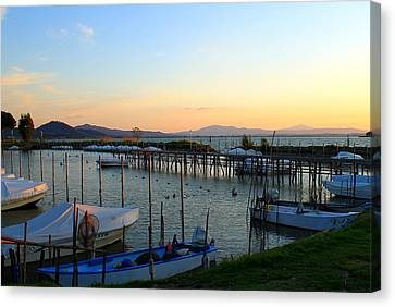 Lake Trasimeno Marina Canvas Print