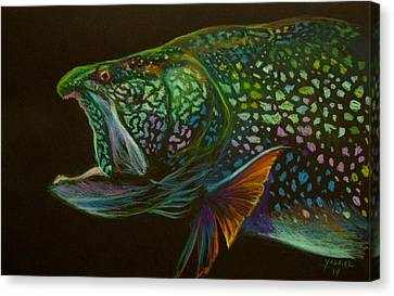Lake Trout Portrait Canvas Print