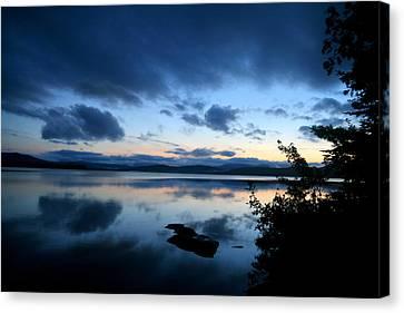 Lake Umbagog Sunset Blues No. 2 Canvas Print by Neal Eslinger