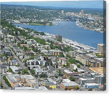 Lake Union Panorama Canvas Print