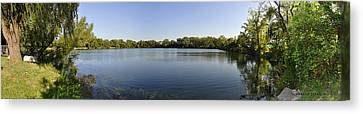 Canvas Print featuring the photograph Lake Victory by Verana Stark